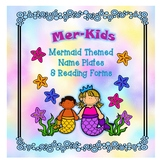Mermaid Themed Nameplates and Reading Logs