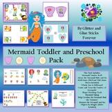Mermaid Toddler and Preschool Pack #TpTDistanceLearning