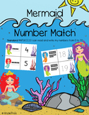 Mermaid/Under the Sea Number Matching Cards MAFS.K.CC.3.1 Subitize