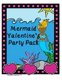 Mermaid Valentine's Party Pack Handouts