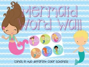 Mermaid Word Wall