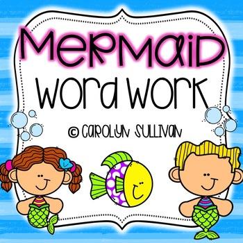 Mermaid Word Work for Kindergarten