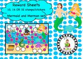 Mermaid and Merman Reward Sheet Package