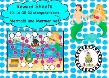 Mermaid and Merman Reward Sheet Package