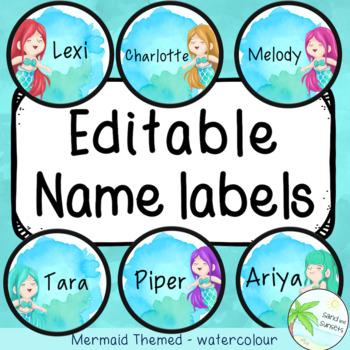 Mermaid theme name labels   Ocean theme   Editable