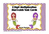 Mermaids 2 Digit Multiplication Task Cards