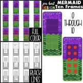 Mermaids Clip Art -Mermaids Math Ten Frames {jen hart Clip Art}