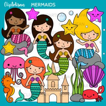 Mermaid printable. Mermaids clip art