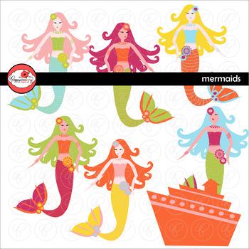 Mermaids Clipart by Poppydreamz