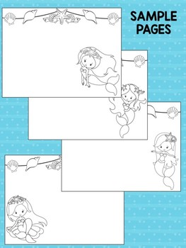 Mermaids - Happy Desk Editable Coloring Pages: Mermaid Squad