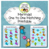Mermaids One to One Matching Printables