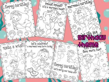Mermaids - The Crayon Crowd Coloring Pages, Mermaid Birthday