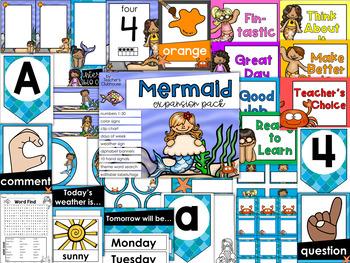 Mermaids Theme Decor {Expansion Pack}