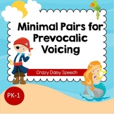 Minimal Pairs Cards for Prevocalic Voicing: Mermaids and Pirates