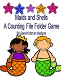 Mermaids and Shells Counting File Folder Game