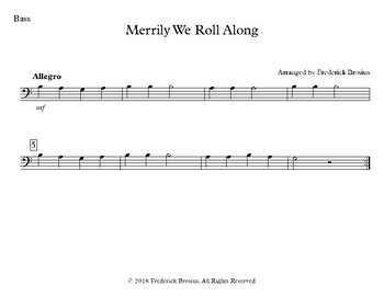Merrily We Roll Along - Treble and Bass with Audio