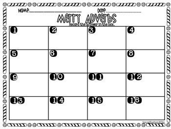Merry Adverbs task card set
