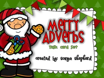 Merry Adverbs task card set