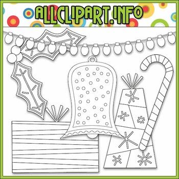 BUNDLED SET - Merry & Bright Accents Clip Art & Digital Stamp Bundle