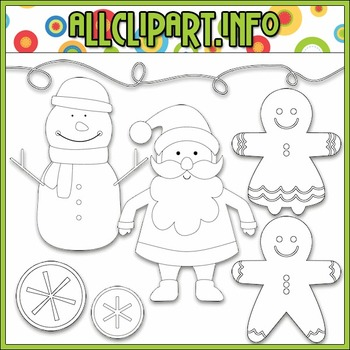 BUNDLED SET - Merry & Bright Characters Clip Art & Digital Stamp Bundle