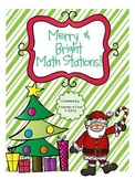 Merry & Bright Math Stations {5 CCSS aligned math activities!!}