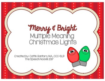 Merry & Bright: Multiple Meaning Words