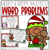 Multistep Word Problem Task Cards Christmas Themed