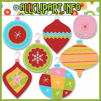 BUNDLED SET - Merry & Bright Ornaments Clip Art & Digital Stamp Bundle