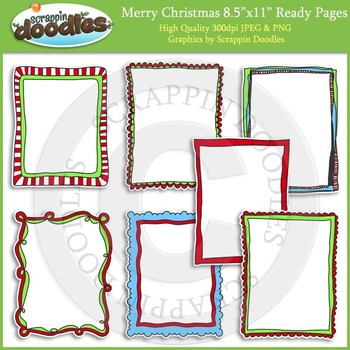 Merry Christmas 8 1/2 x 11 Ready Pages