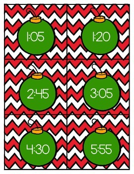 Merry Christmas! {A Time Math Center Freebie}