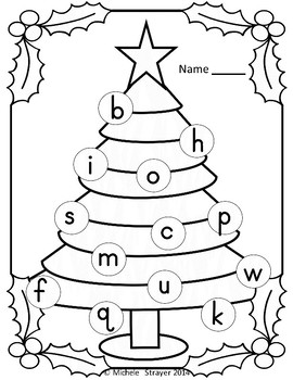 Merry Christmas Alphabet Match Activity