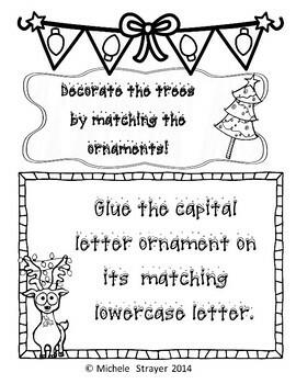 Merry Christmas Alphabet Match Activity