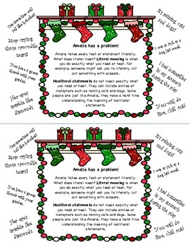 Merry Christmas, Amelia Bedelia - Book Study - Nonliteral Meanings - Sequencing