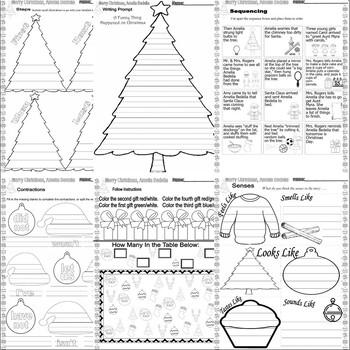 Merry Christmas Amelia Bedelia Activity Pack Comprehension Idioms Vocabulary 16p