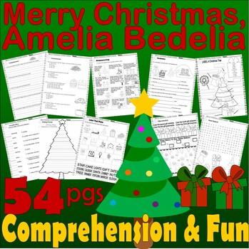 Merry Christmas Amelia Bedelia Book Companion Comprehension & Idioms 21p