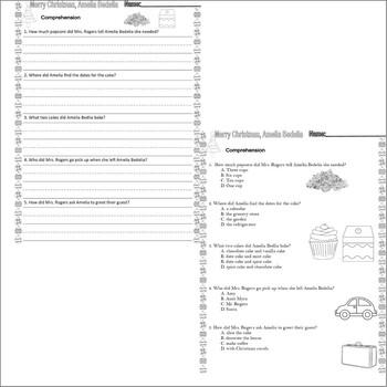 Merry Christmas, Amelia Bedelia : Comprehension & Multiple Choice Worksheets