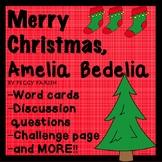 Amelia Bedelia Merry Christmas Novel Book Study No Prep Guided Reading Unit