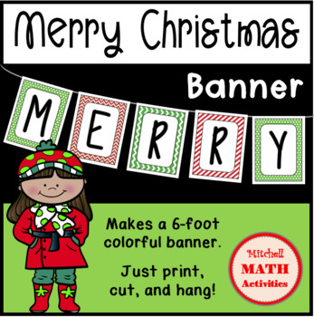 Merry Christmas Banner (Ink-Saver Version)