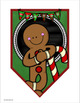 Merry Christmas Banner Pennant Sign Posters Display Bulletin Board Decoration