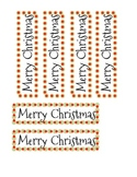 """Merry Christmas"" Bookmark"
