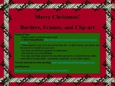 Merry Christmas! Borders, frames, and clip-art