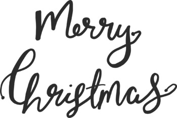 Merry Christmas Bouncy Letters Clipart
