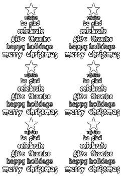 Merry Christmas Card - Christmas Card - Printable - freebie