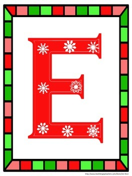 Christmas FREE Class Photo Letters / Display Header