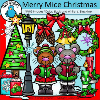 Merry Christmas Clip Art Bundle - Chirp Graphics