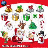 Merry Christmas Clip Art Complete Set 1 - 28 PIECE MEGAPACK!