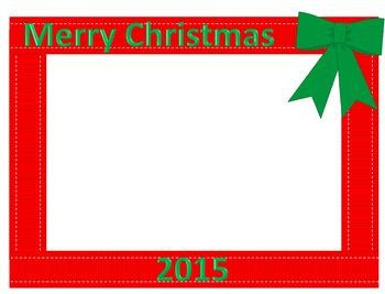 Merry Christmas Clipart Frame 4x6