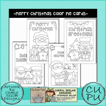 Merry Christmas Color Me Cards