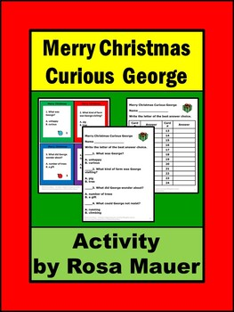 Merry Christmas Curious George Comprehension Questions