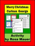 Merry Christmas Curious George Printable Task Cards & Worksheet Activity